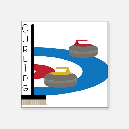 Curling Field Sticker