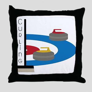 Curling Field Throw Pillow