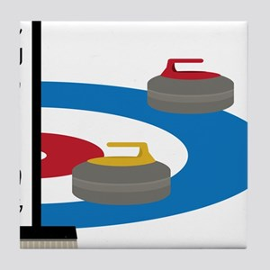Curling Field Tile Coaster