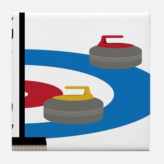 Curling Field Tile Coaster