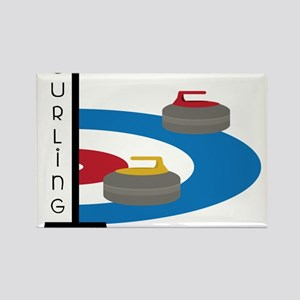 Curling Field Rectangle Magnet