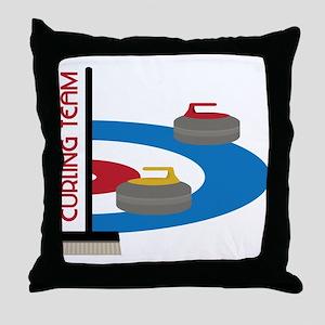 Curling Team Throw Pillow