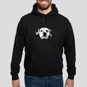 Dalmatian Face Hoodie (dark)