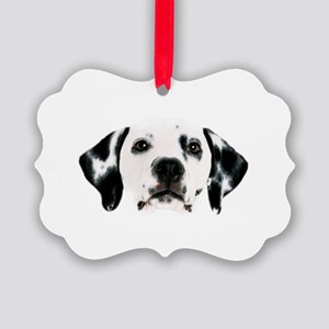 Dalmatian Face Picture Ornament
