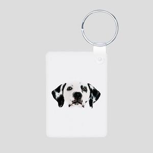 Dalmatian Face Aluminum Photo Keychain