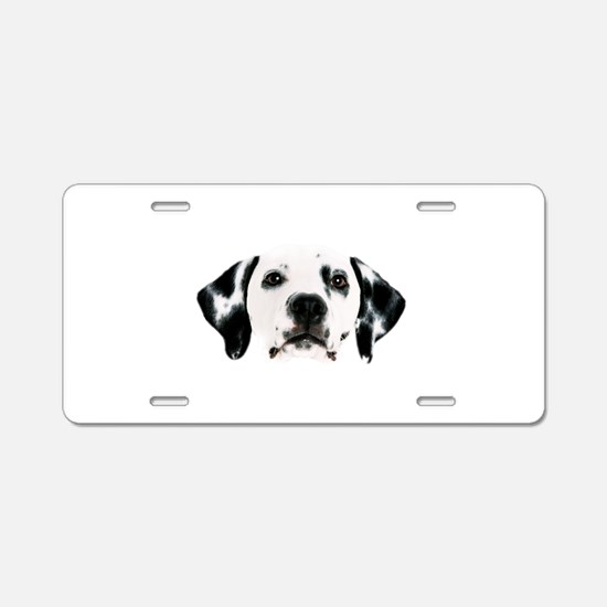 Dalmatian Face Aluminum License Plate
