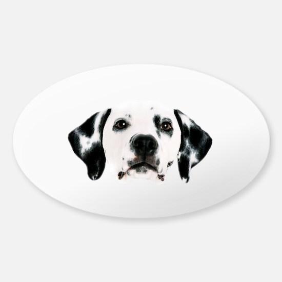 Dalmatian Face Sticker (Oval)