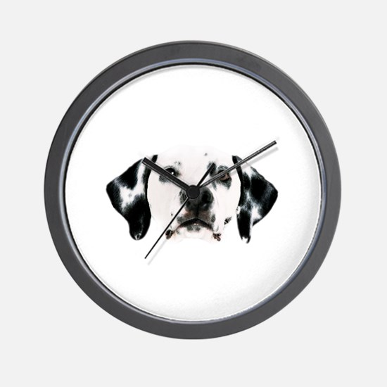 Dalmatian Face Wall Clock