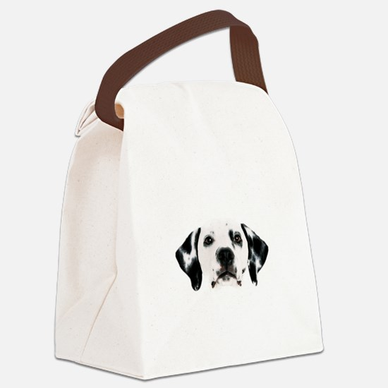 Dalmatian Face Canvas Lunch Bag
