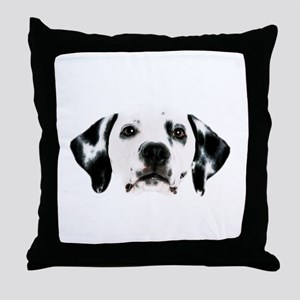 Dalmatian Face Throw Pillow