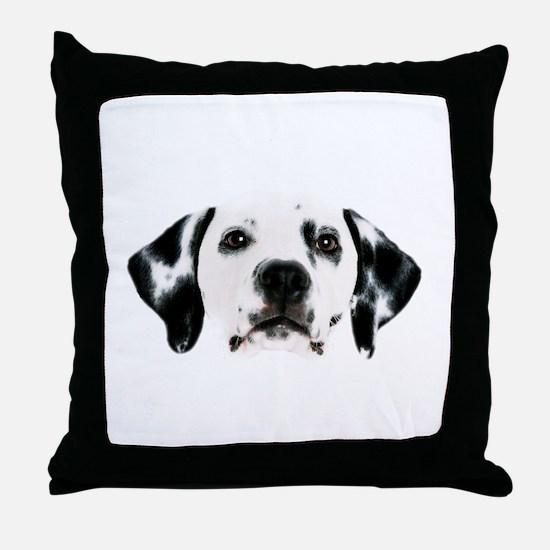 Dalmatian Face Throw Pillow