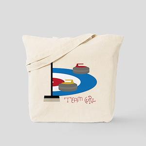 Team Curl Tote Bag