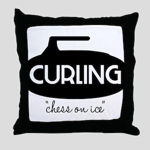 Chess On Ice Throw Pillow