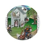 WooFHouse Illustration Ornament (Round)