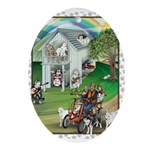 WooFHouse Illustration Ornament (Oval)