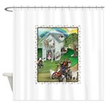 WooFHouse Illustration Shower Curtain