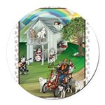 WooFHouse Illustration Round Car Magnet