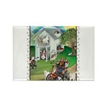 WooFHouse Illustration Rectangle Magnet (10 pack)
