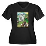 WooFHouse Illustration Plus Size T-Shirt