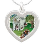 WooFHouse Illustration Silver Heart Necklace