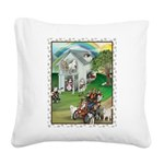 WooFHouse Illustration Square Canvas Pillow