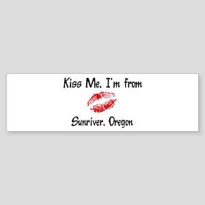 Sunriver - Kiss Me Bumper Sticker