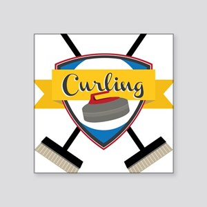 Curling Logo Sticker