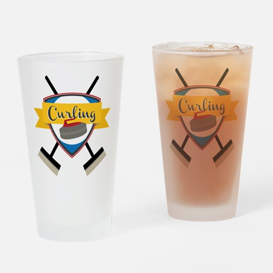 Curling Logo Drinking Glass