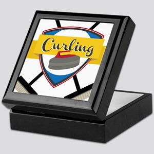 Curling Logo Keepsake Box