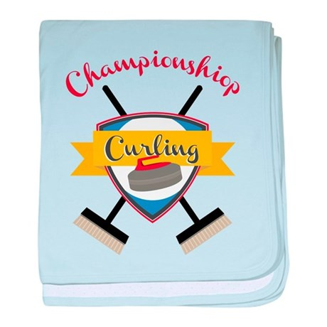 Championship Curling baby blanket