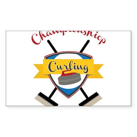 Championship Curling Sticker