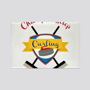Championship Curling Rectangle Magnet