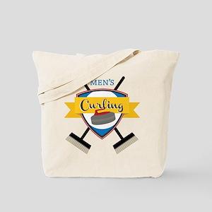 Men's Curling Tote Bag
