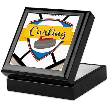 Men's Curling Keepsake Box
