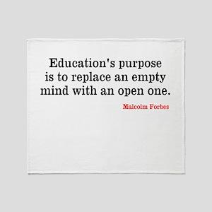 Education Throw Blanket