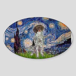 Starry Night /German Short Sticker