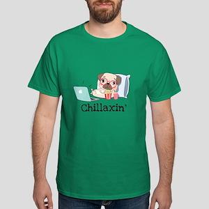 Chillaxin Pug Dark T-Shirt