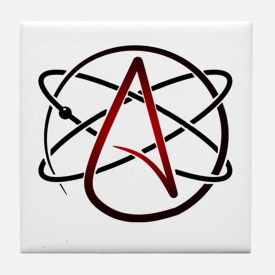 Modern Atheist Atomic Color Tile Coaster