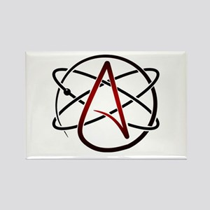 Modern Atheist Atomic Color Rectangle Magnet