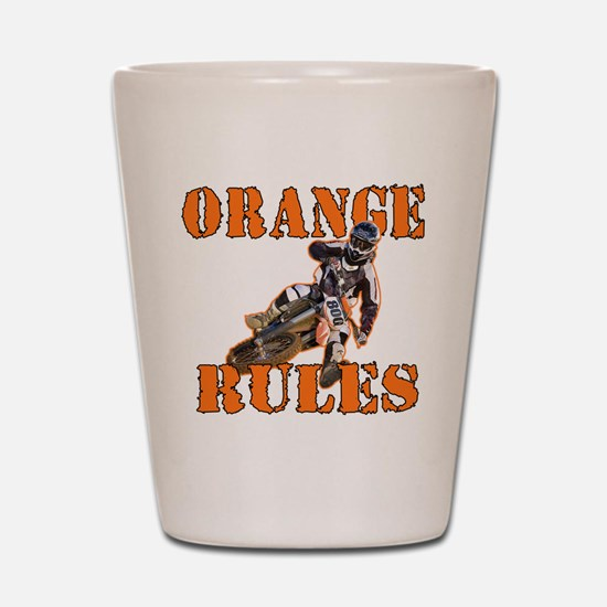 Orange Rules Shot Glass