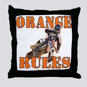 Orange Rules Throw Pillow