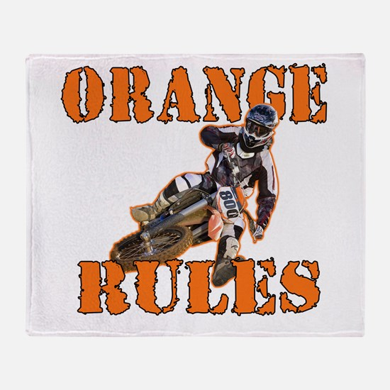 Orange Rules Throw Blanket