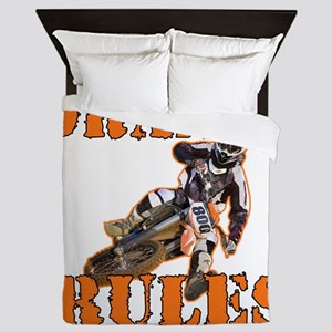 Orange Rules Queen Duvet