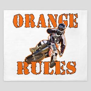 Orange Rules King Duvet