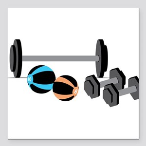 """Weights Square Car Magnet 3"""" x 3"""""""