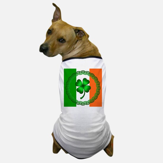 Flag and Clover Dog T-Shirt