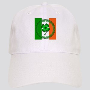Flag and Clover Cap