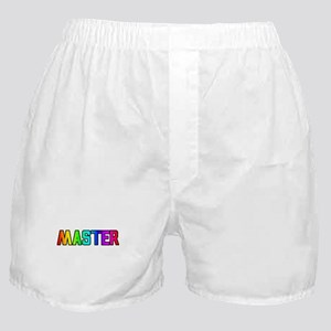 MASTER RAINBOW TEXT Boxer Shorts