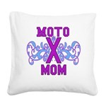 MotocrossMom Square Canvas Pillow