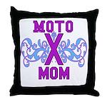 MotocrossMom Throw Pillow